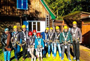 Kletterpark Flüchtlingsgruppe Hamburg Sachsenwald