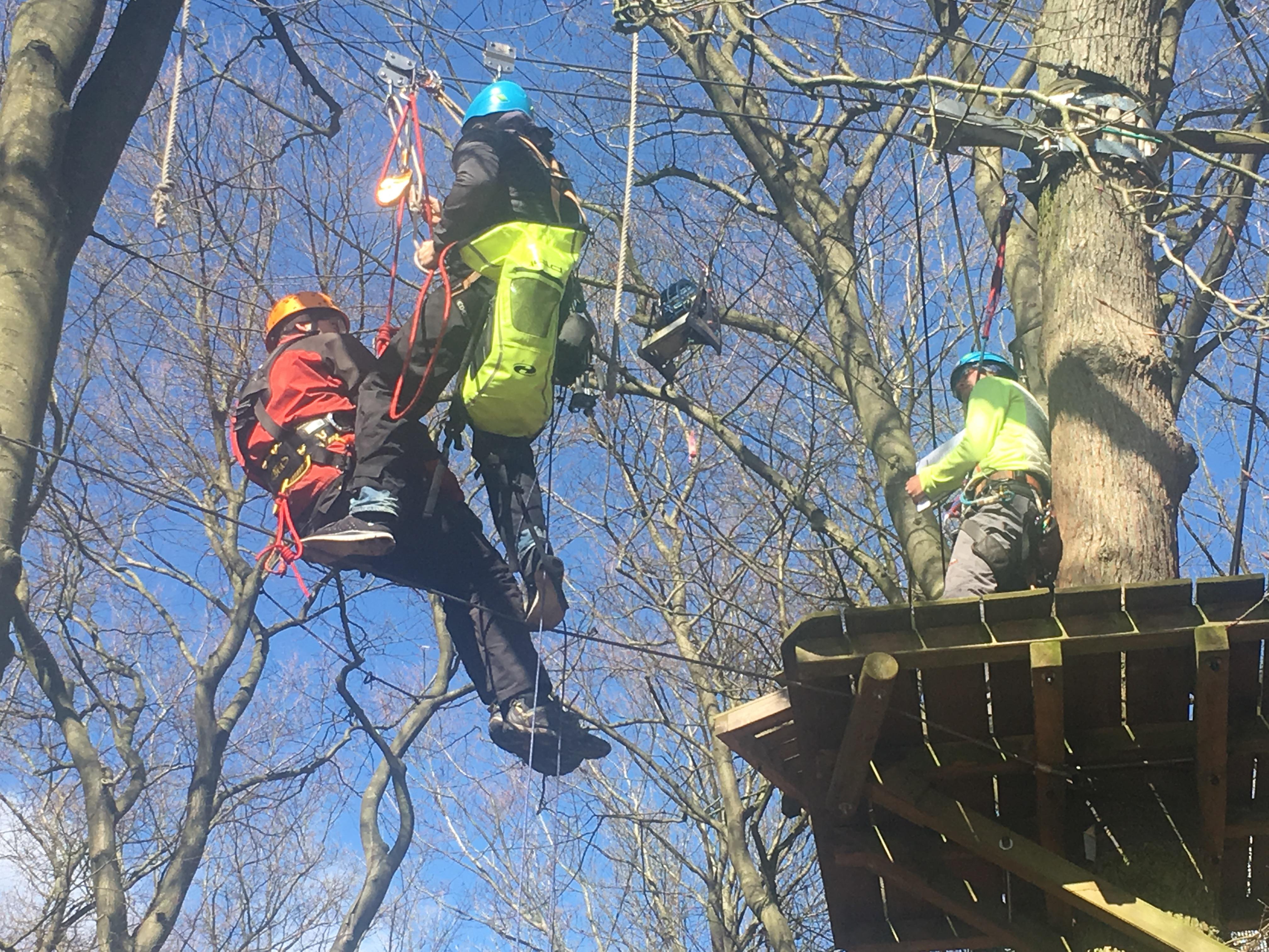 Trainerausbildung Rettung schnurstracks Kletterpark