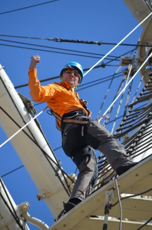 Gutschein Klettern im Hafen verschenken Rickmer Rickmers Museumsschiff